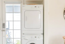Washer and Dryer in unit.