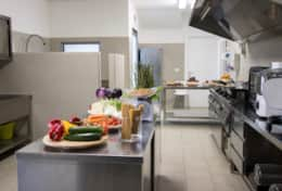 There is a professional kitchen at the Todi House private villa