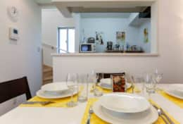 Dining area for family meals|Submarine House| Tokyo Family Stays |Spacious |