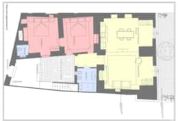 Giardini di S Elia - detailed plan ground floor - Gagliano del Capo - Salento