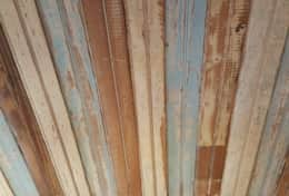 The ceiling on the 3rd floor will be 100+ year old reclaimed beadboard.