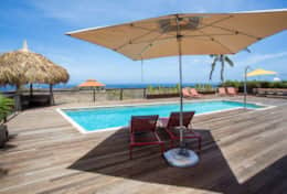 Pooldeck and its palapa
