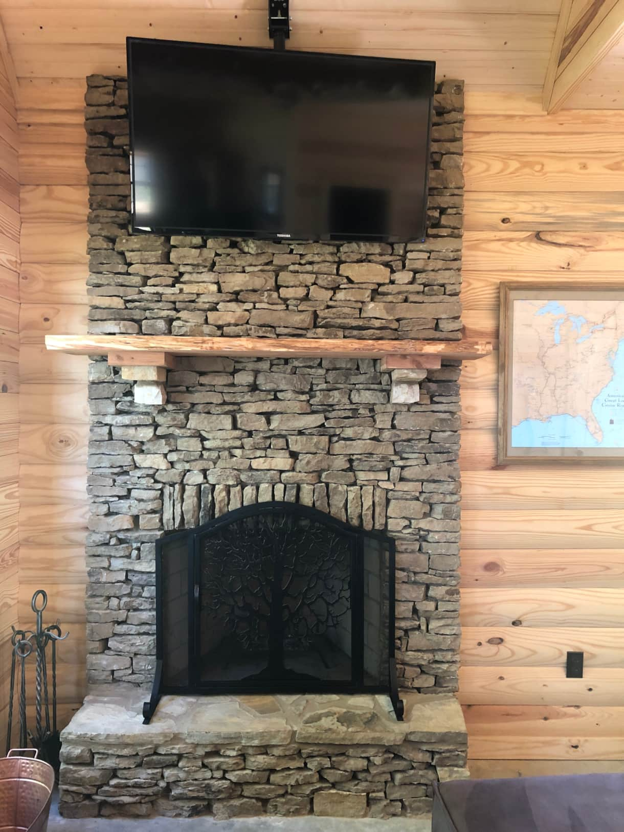 fireplace & smart tv