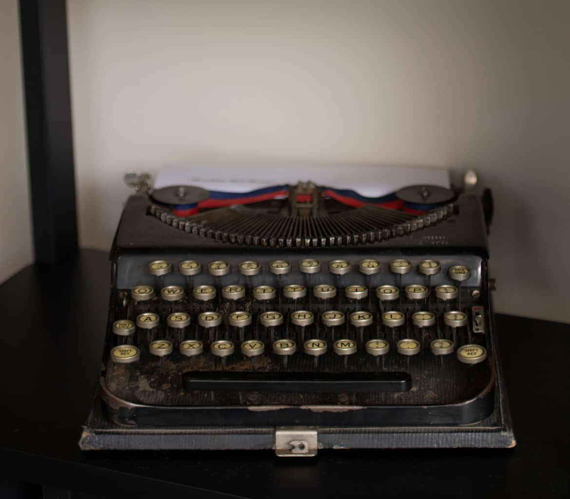 Agatha Christie typewriter