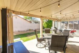 Patio with BBQ and TV (Roku)