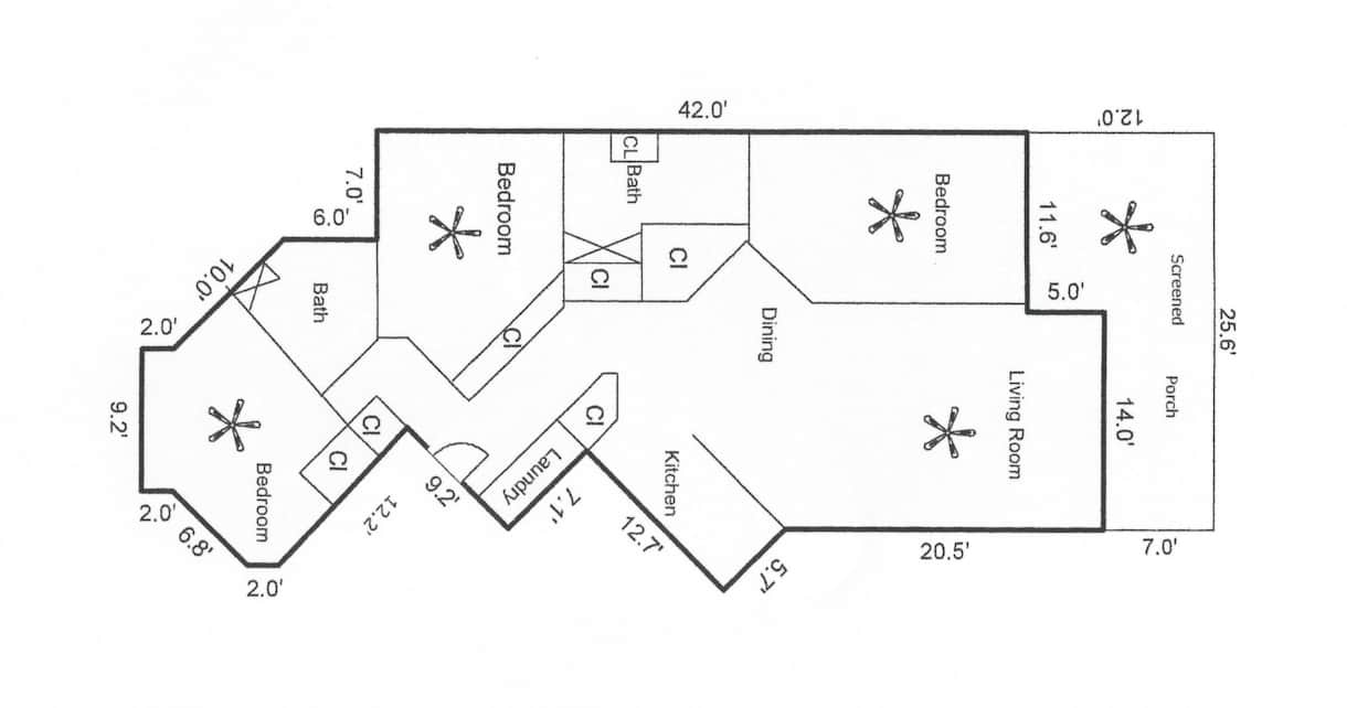 Floor Plan for Condo