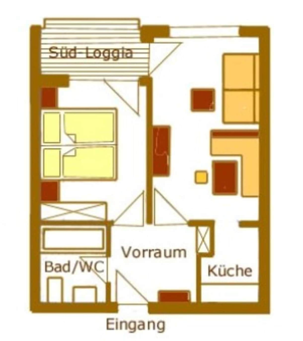 Appartements Vilsalp TAN 2 süd Grundriss