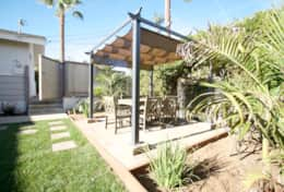 Private outdoor eating and play space - fenced and covered