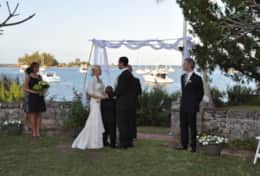 Wedding held on the property