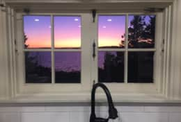 Sunset from the kitchen sink.