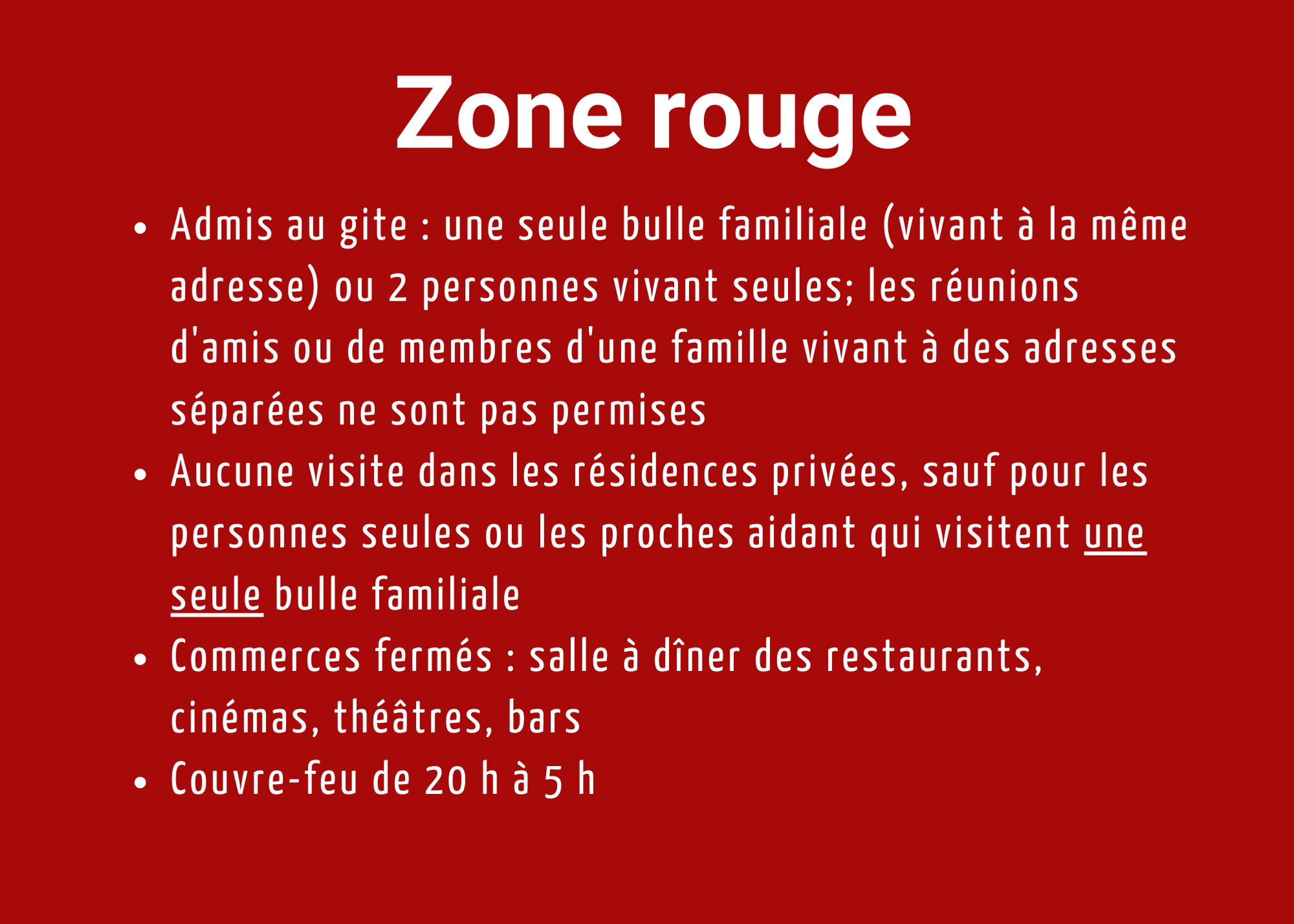 Auberge Tom B&B - zone rouge