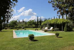 The View of the garden and Pool at Camparone
