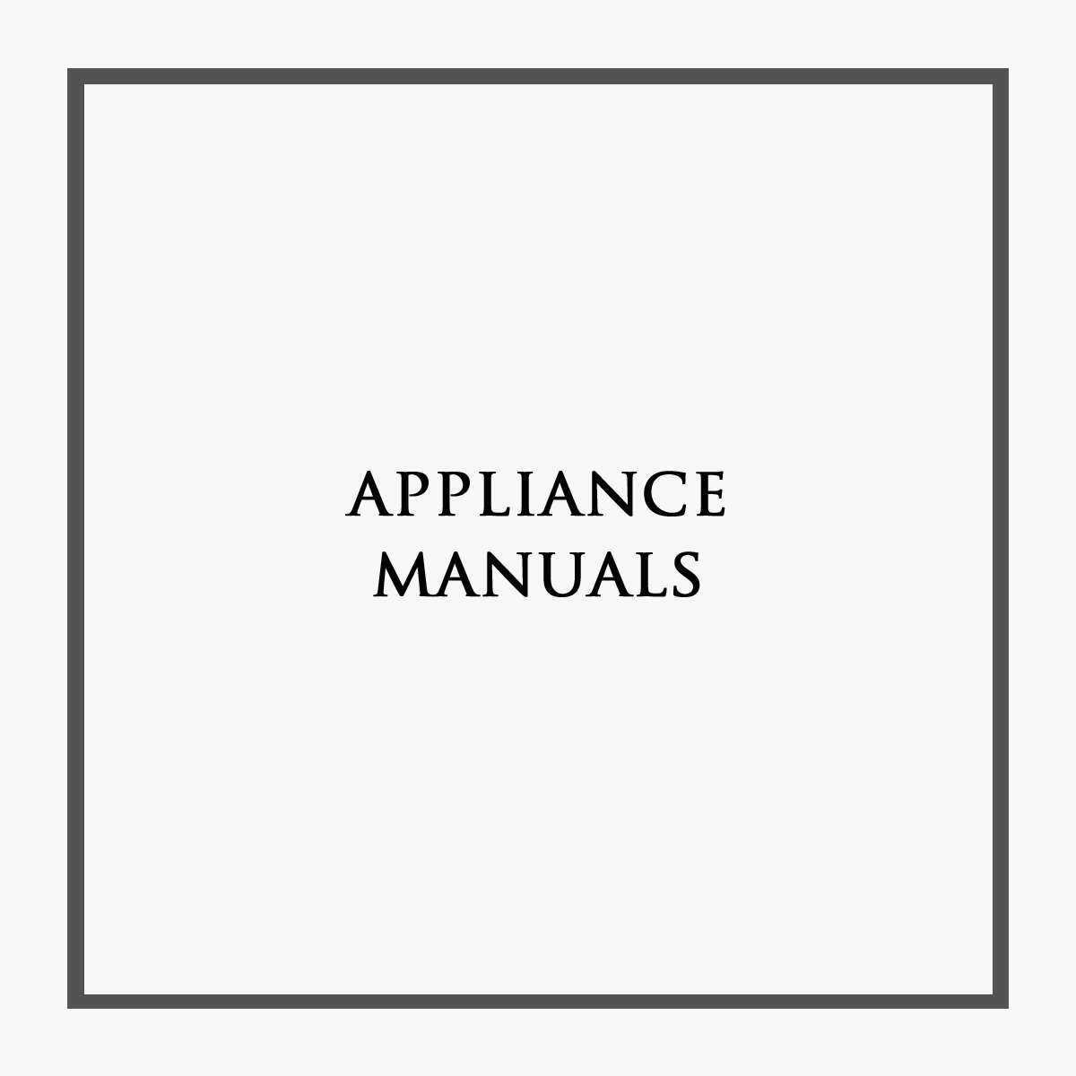 Castle Rock Appliance Manuals