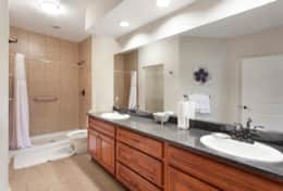 Large Bathroom with Double Vanity and Sink