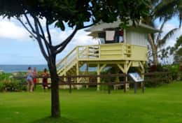 Lifeguard station at Kamaole II. Lifeguard are also on duty at Kamaole I and III for your safety.