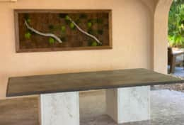 Outdoor uilt In Dining Area