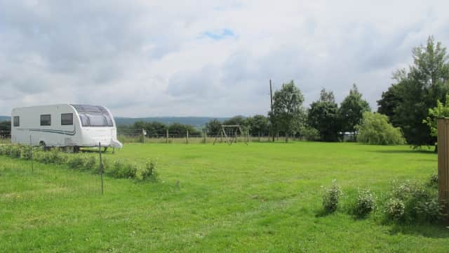 Site with 8.22m caravan at Duck Pitch