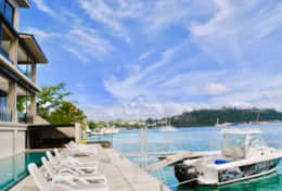 Onyx Luxury Harbour Resort Residences - 20 meter sparkling pool overlooking Port Vila Harbour