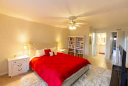 Master Bedroom is downstairs and has King bed, bathroom and walk-in closet.