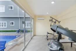 Fitness Room overlooking the Pool Area