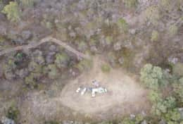 Arial view of Noddys Spot in Picnic area