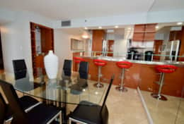 Dining area for 6, seating at counter for 3, fully equipped kitchen