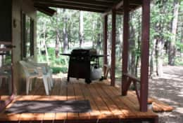 cabin 6 studio deck with gas grill