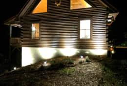 Waynesville Smokies Overlook Lodge Cabin - Night
