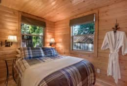 Second matching bedroom on South side of cabin.