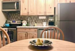 Fully equipped kitchen recently remodeled stainless steel