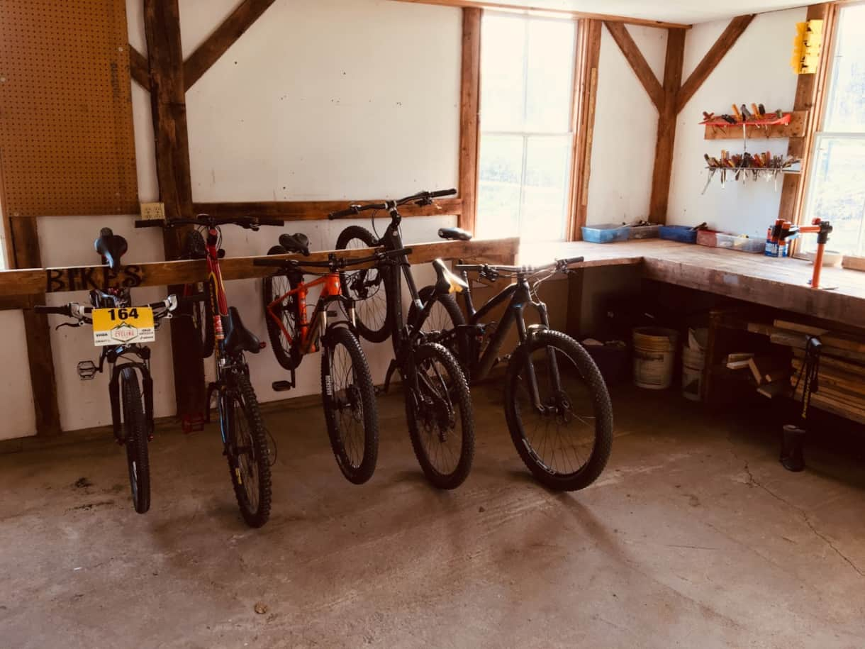 Saltbox Garage Secure Bike Storage and Bike Repair Station