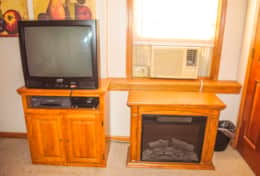 TV, electric heater and AC