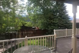 Tranquil moments on the back deck