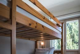 Chalet Daphne Chic Chalet Saas Fee Basement Bunk Room