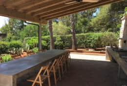 Summer House - outdoor kitchen with dining area - Marina di S. Gregorio - Salento