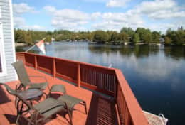 Amazing Waterfront Views from Boathouse Wraparound Deck