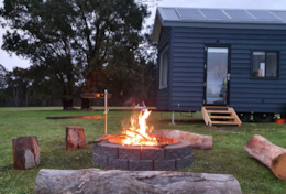 Settle in for cosy nights at tiny house Elliott