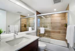 2nd master private bedroom bathroom, tub/shower combo