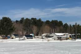 Resort from Lake- Winter View