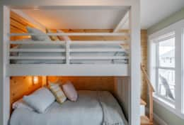 Cozy double sized bunk beds sleep 2-4.