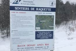 Photo des pistes de raquette