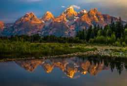 Grand Teton Sunrise Adjacent to Yellowstone Park