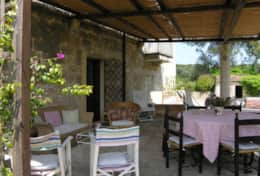 Masseria-della-Corte - outdoor furnished dining area - Depressa di Tricase - Salento