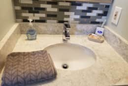 Bathroom Vanity area Myrtle Beach Condo Rental