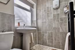New wet room with eco -power shower