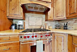 Luxury designer kitchen with Wolf stove
