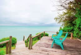 Sit back and marvel at the mesmerizing view of Lake Huron.