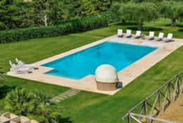 large salt integrated pool