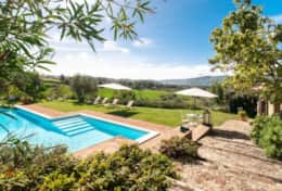 La Casella holiday cottage is in a quiet rural location with great views, near Perugia
