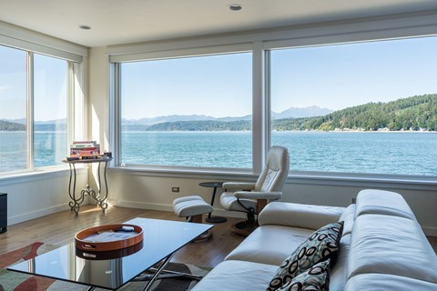 3D Tour: Luxury 'Lookout' Hood Canal Vacation Rental